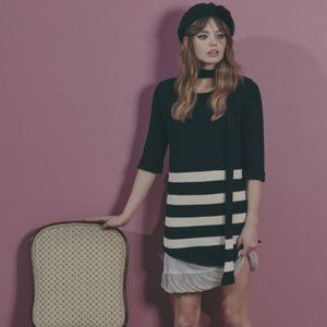 For Love And Lemons Knitz Striped Sweater Dress S